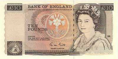 BILLET ANGLETERRE 10 POUNDS