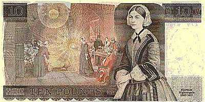 ENGLAND (1975-1988)10 Pounds(Florence Nightingale)