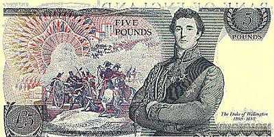 ENGLAND (1971-1978)5 Pounds(The Duke of Wellington)